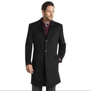Jos A Bank Men's Black Wool Coat 40 L